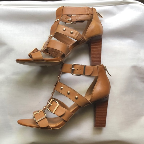 BCBGeneration Shoes - BCBG Brown High Heel Sandals Size 9